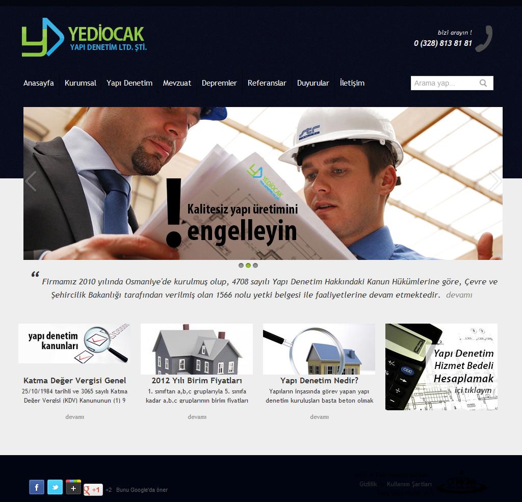 7 Ocak Yapı Denetim Osmaniye Web Tasarım