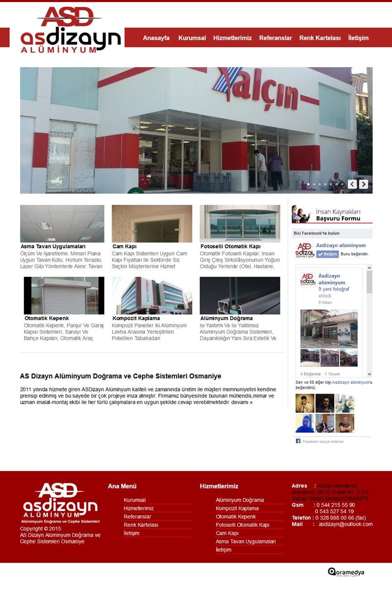Asdizayn Alüminyum Cephe Sistemleri Osmaniye Web Tasarım