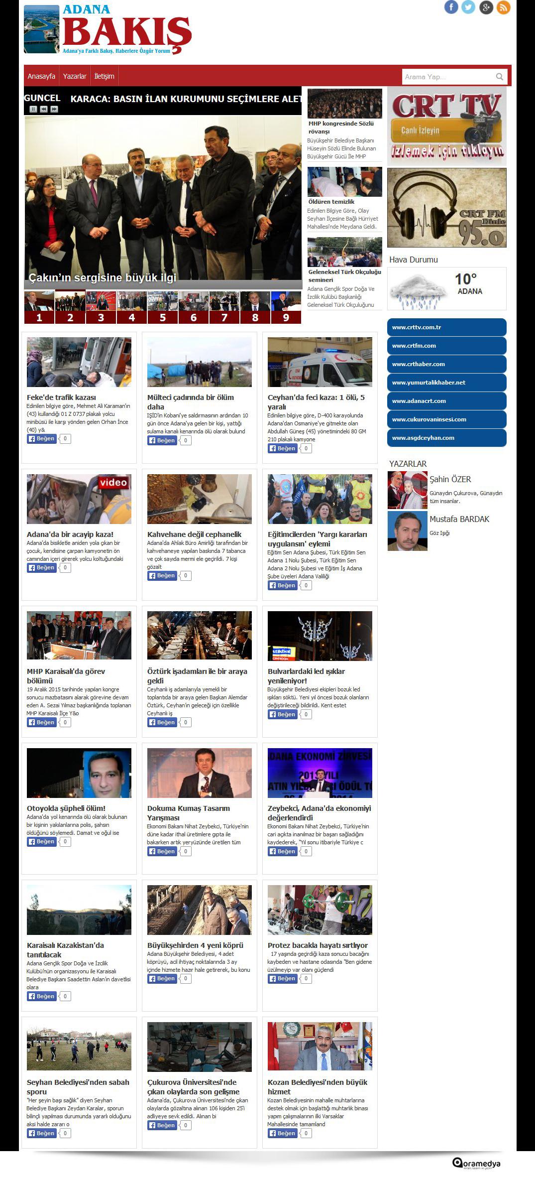 Adana Bakış Haber - Adana'ya Farklı Bakış, Haberlere Özgür Yorum