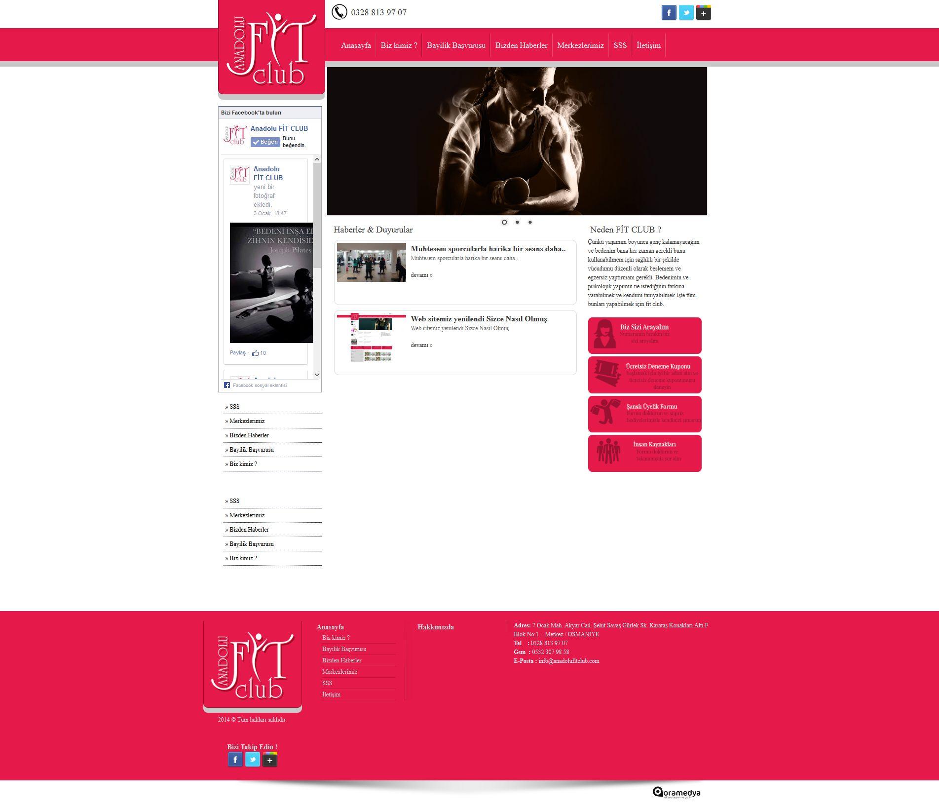 Anadolu Fit Club Spor ve Yaşam Merkezi Osmaniye Web Tasarım