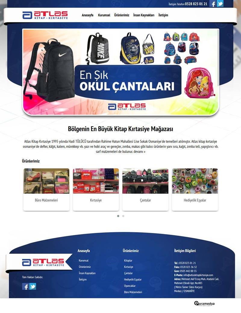 Atlas Kitap Kırtasiye Web Tasarım Osmaniye