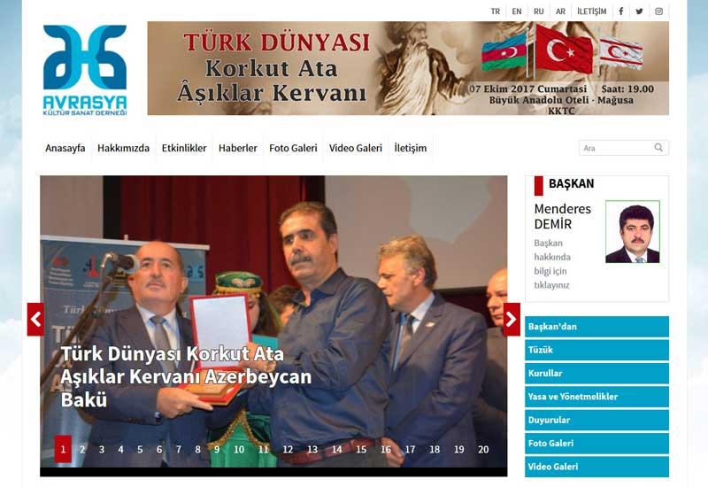 Avrasya Kültür Sanat Derneği Web Sitesi Tasarımı