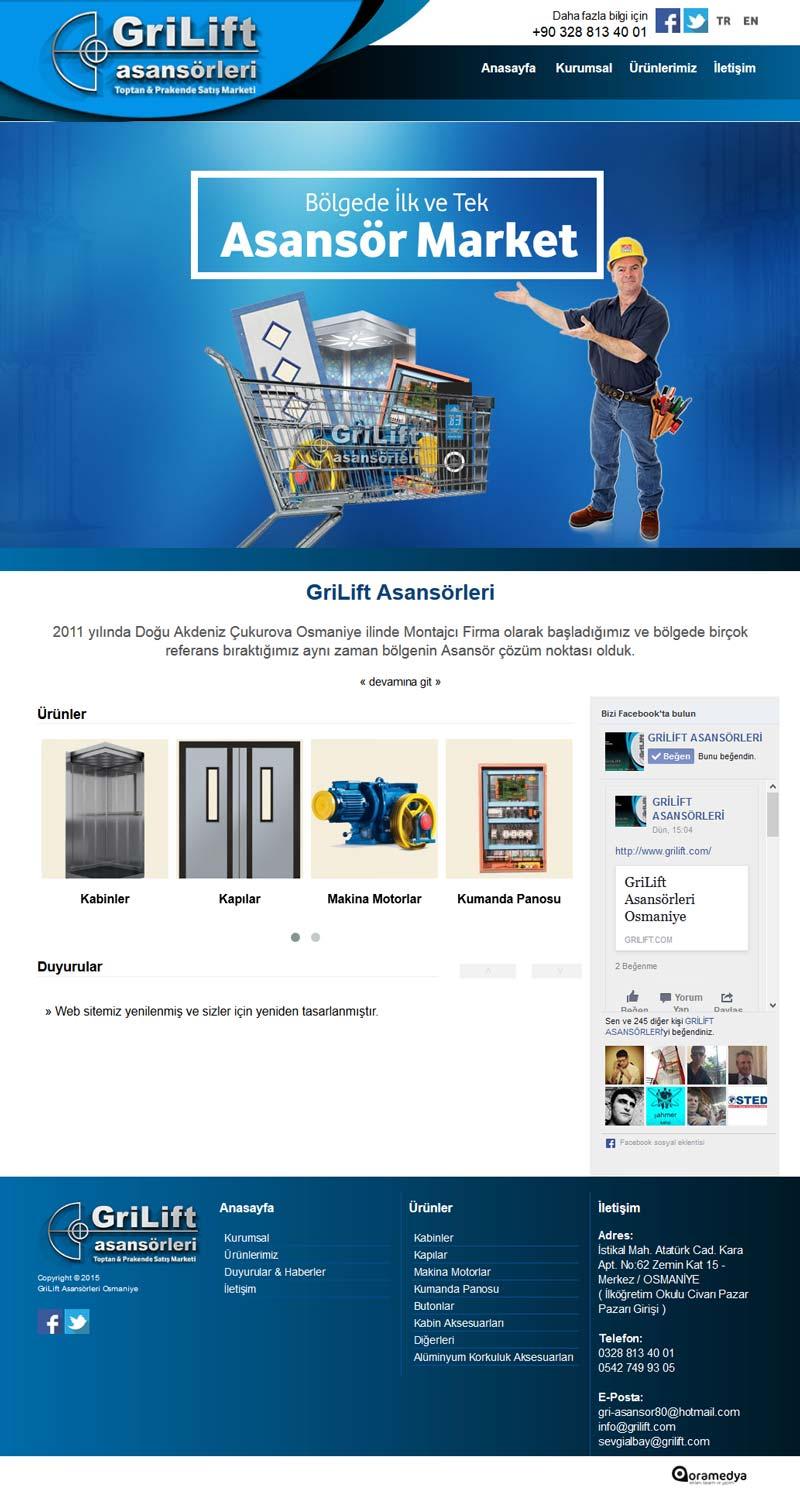Grilift Asansörleri Osmaniye Web Tasarım