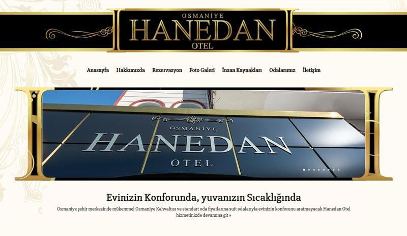 Hanedan Otel Osmaniye Web Tasarımı