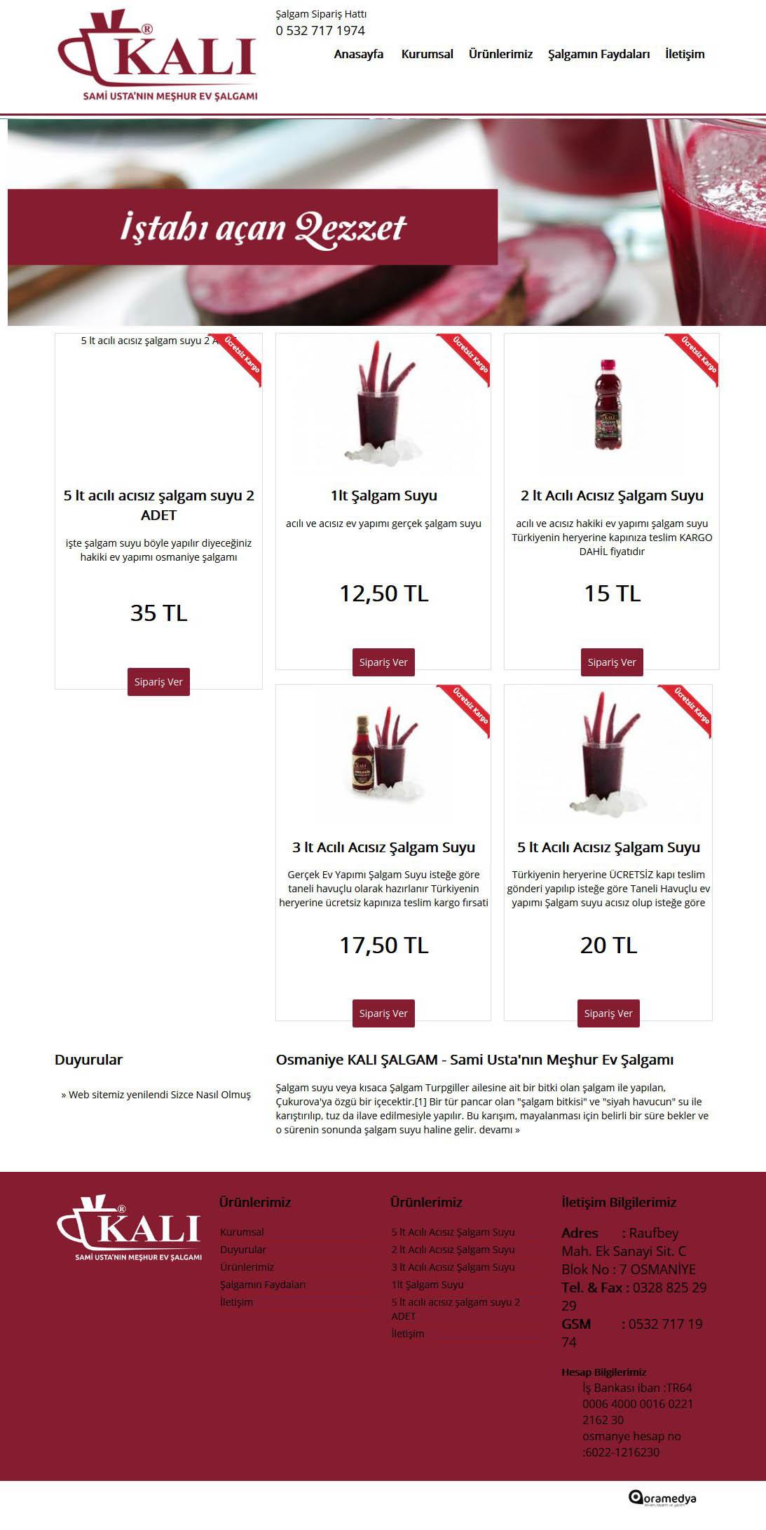 Kalı Şalgam Osmaniye Web Tasarım