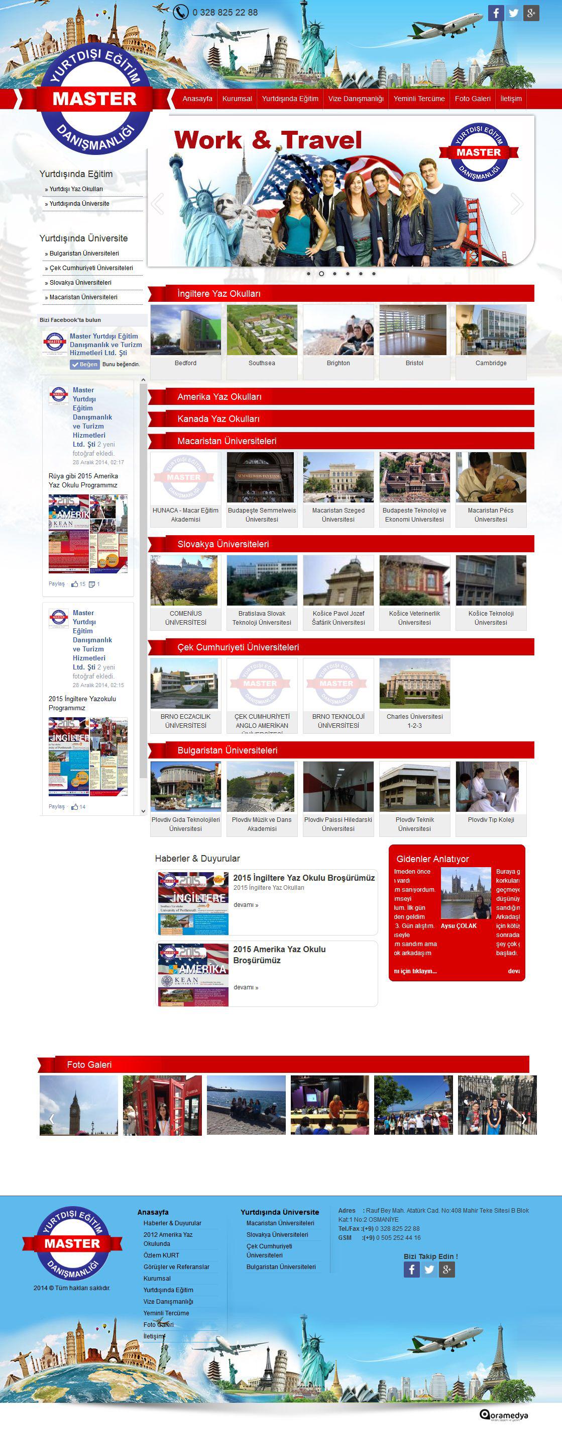 Master Yurtdışı Eğitim OSMANİYE Web Tasarım