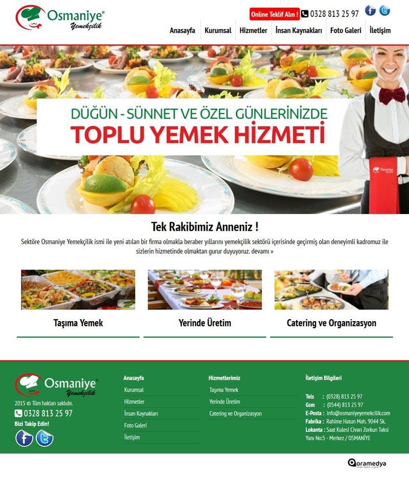 Osmaniye Yemekçilik Toplu Yemek ve Tabldot Hizmetleri Web Tasarımı