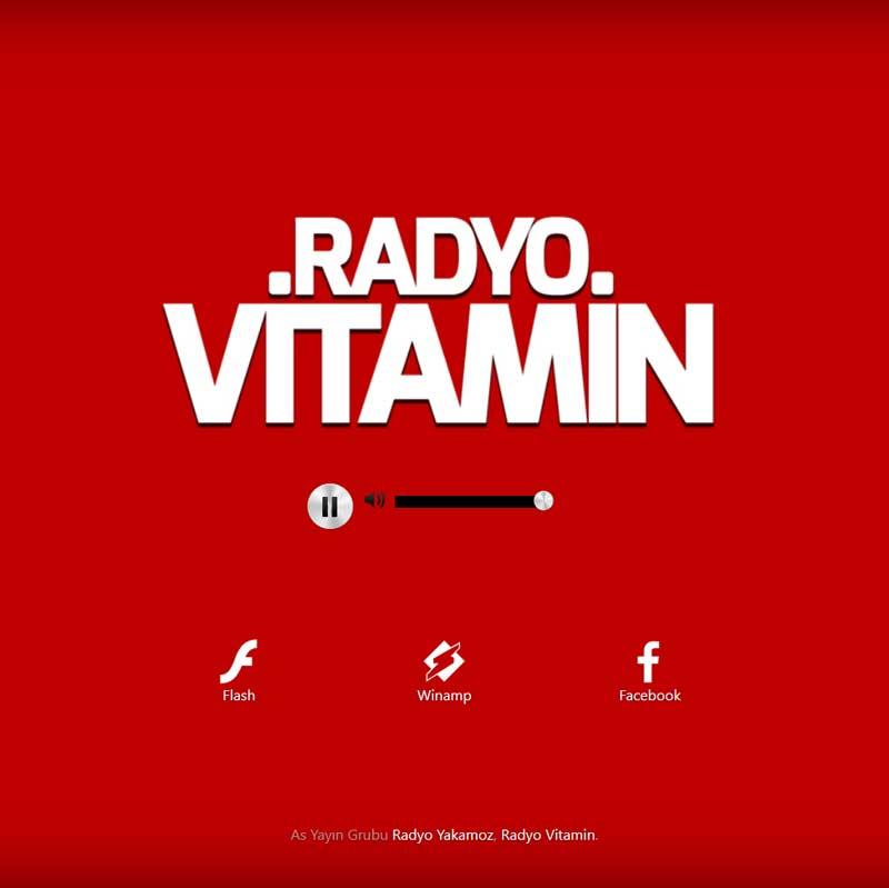 Radyo Vitamin Web Sitesi Tasarımı