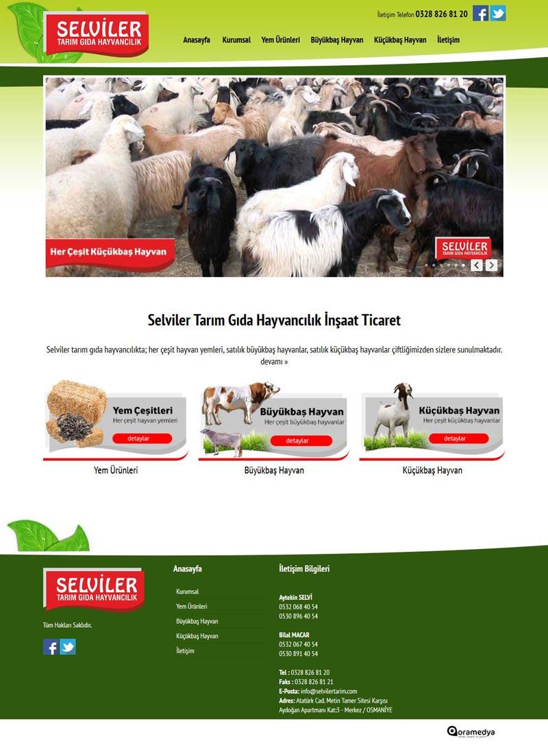 Selviler Gıda Tarım Hayvancılık Osmaniye Web Tasarım