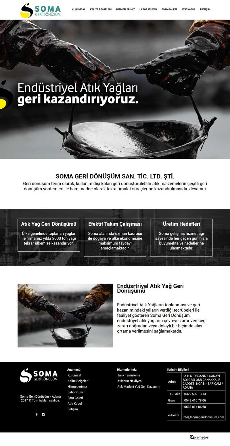 Soma Geri Dönüşüm - Adana Web Sitesi Tasarımı