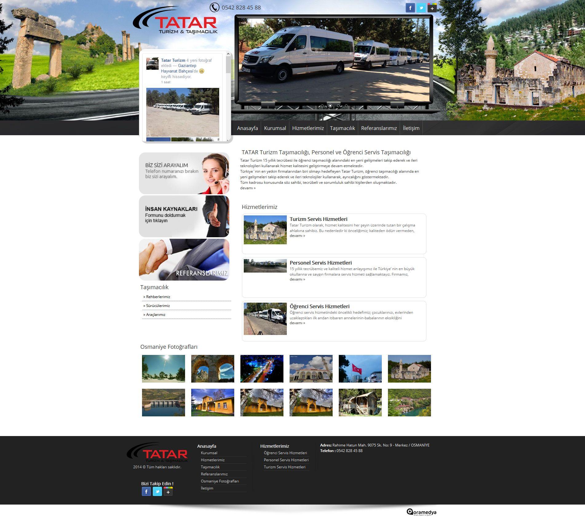 TATAR Turizm Osmaniye web tasarım