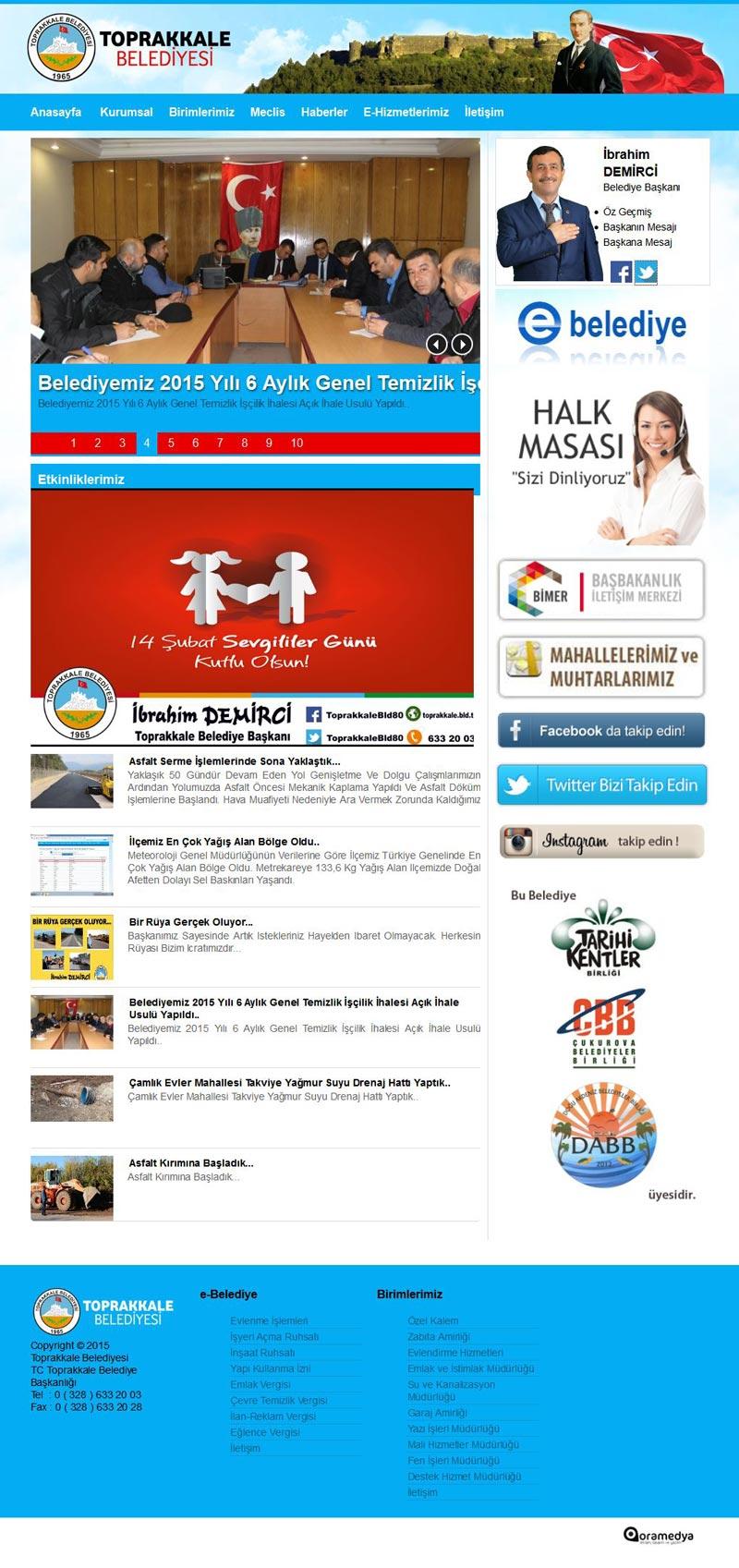 Toprakkale Belediyesi Web Tasarım
