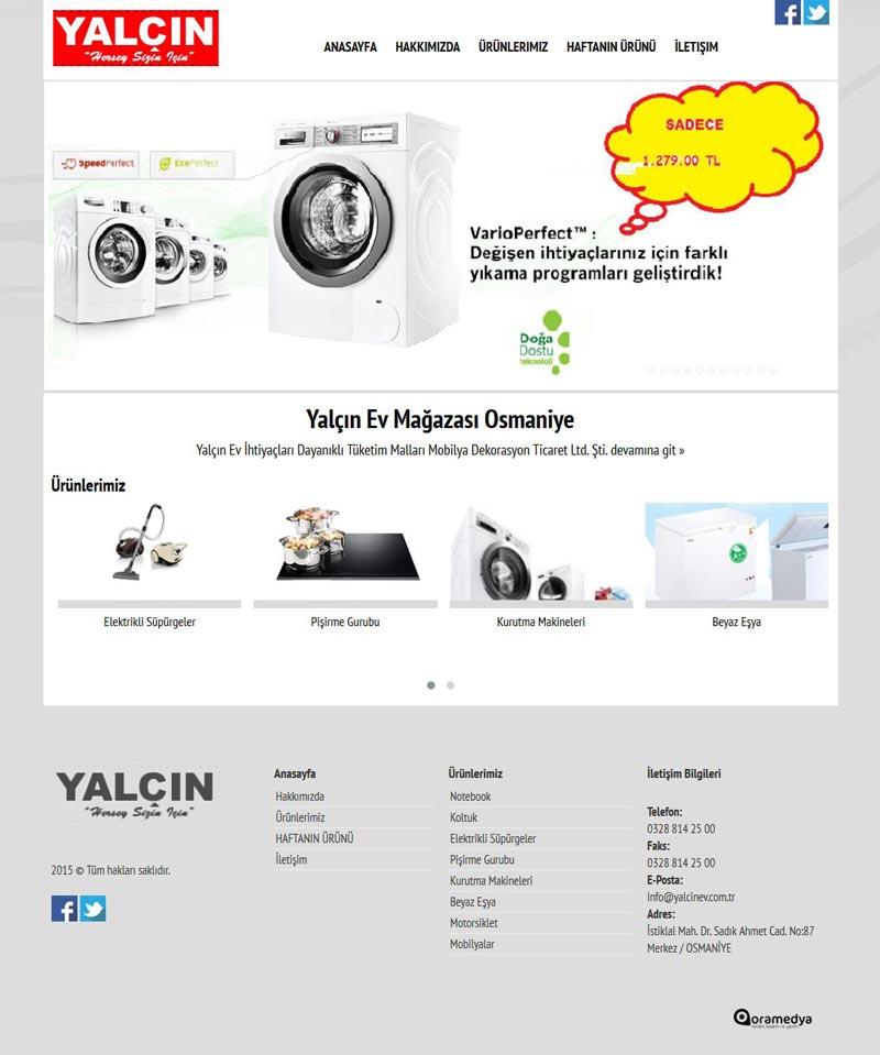 Yalçın Ev Mağazası Osmaniye Web Tasarımı