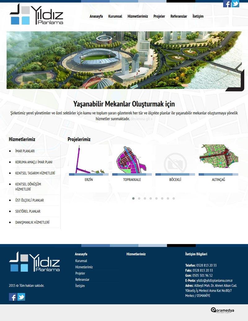 Yıldız Planlama Osmaniye Web Tasarımı