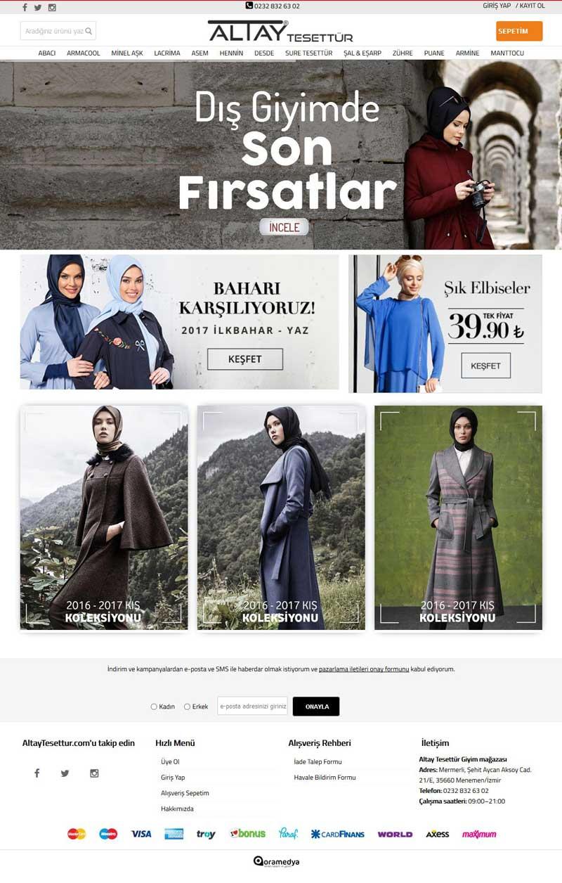 Altay Tesettür E-Ticaret Sitesi İzmir Web Tasarımı