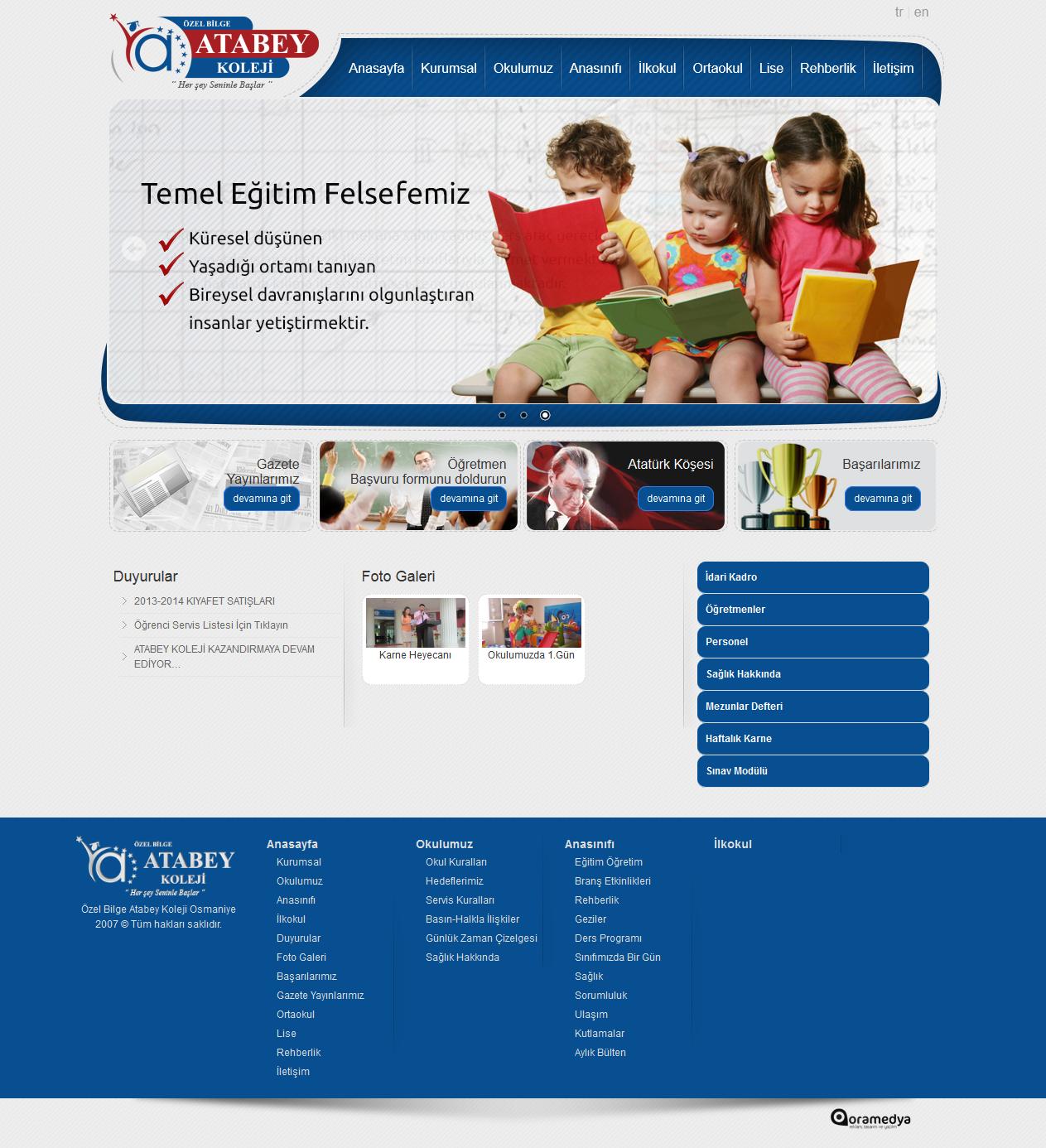 Atabey Koleji Osmaniye Web Tasarım