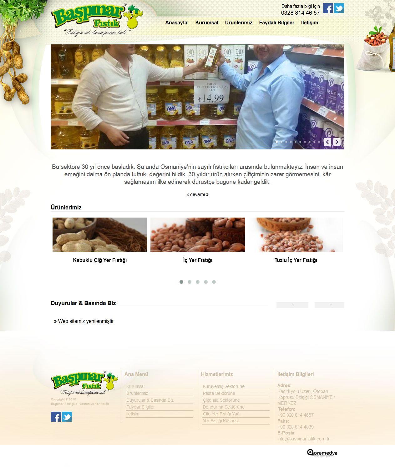 Başpınar Fıstıkçılık Osmaniye Web Tasarım