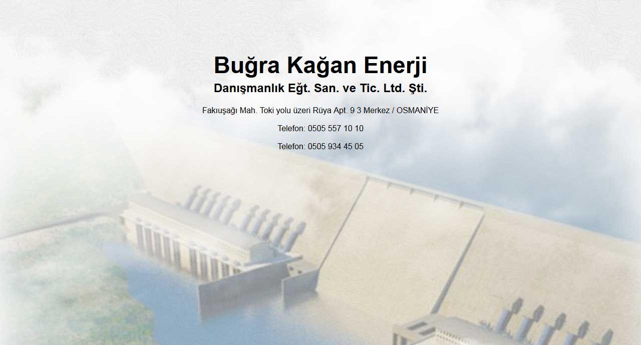 Buğra Kağan Enerji Osmaniye Web Tasarım