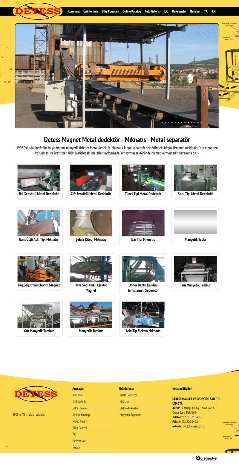 Detess Magnet ve Metal Dedektör - Sepetatör - Mıknatıs Osmaniye Web Tasarımı