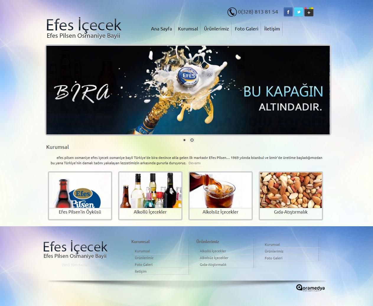 Efes Pilsen Osmaniye Bayii Efes İçecek Osmaniye Web Tasarım