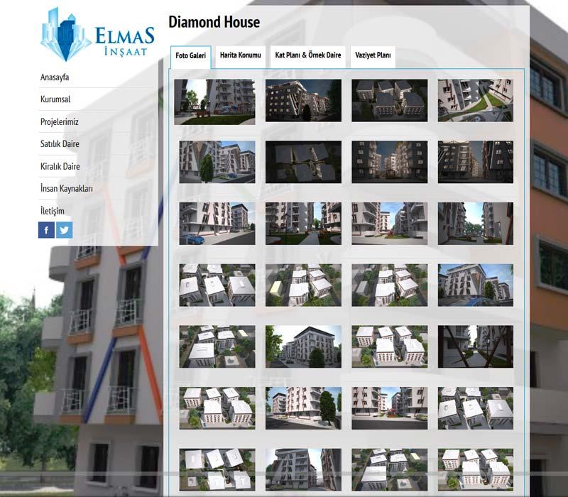 Elmas İnşaat Gayrimenkul Osmaniye Web sitesi Tasarımı