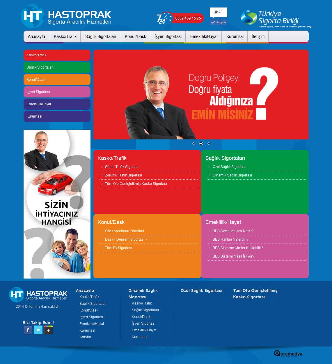Hastoprak Sigorta Aracılık Hizmetleri Osmaniye Web Tasarım