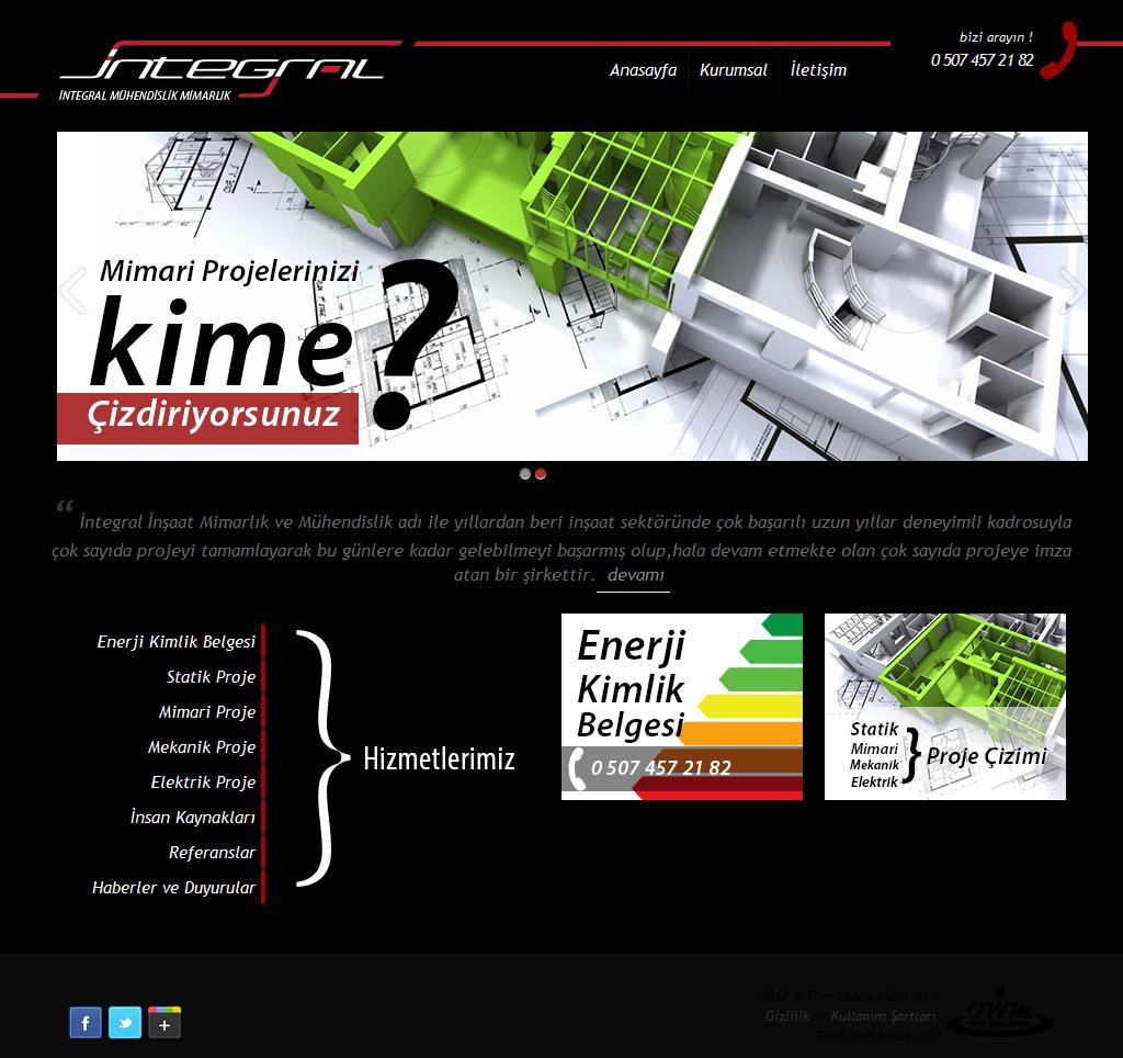 İntegral Mühendislik Web Tasarım