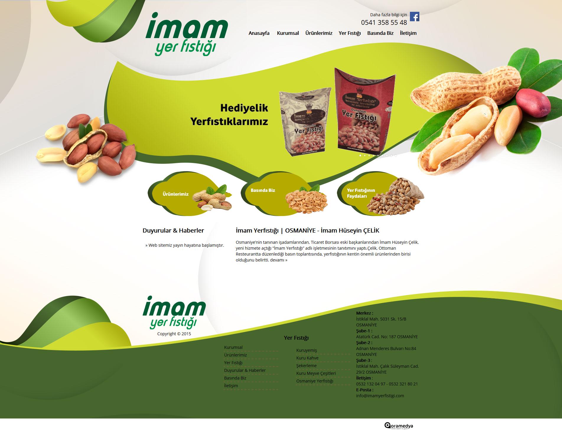 İmam Yerfıstığı Hüseyin ÇELİK Osmaniye Web Tasarım