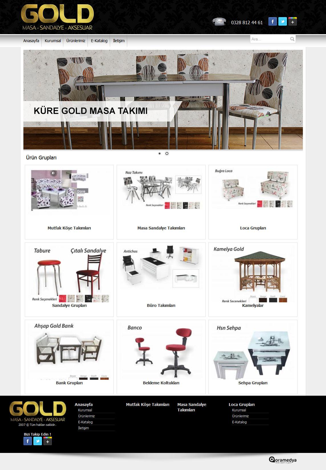 Gold Masa Sandalye Web Tasarım Osmaniye