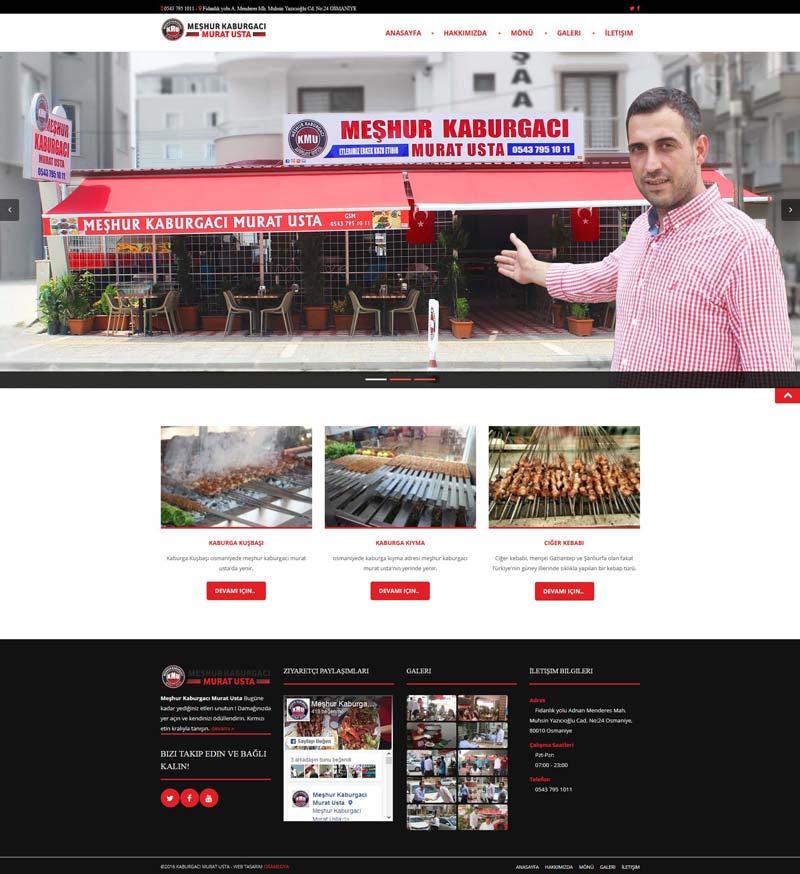 Meşhur Kaburgacı Murat Usta Osmaniye Web Tasarımı