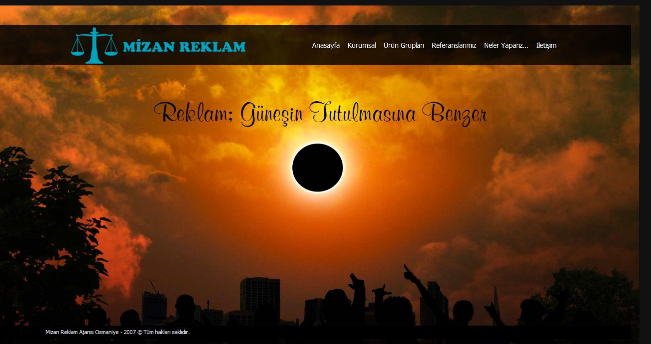Mizan Reklam Ajansı Osmaniye Web Tasarım