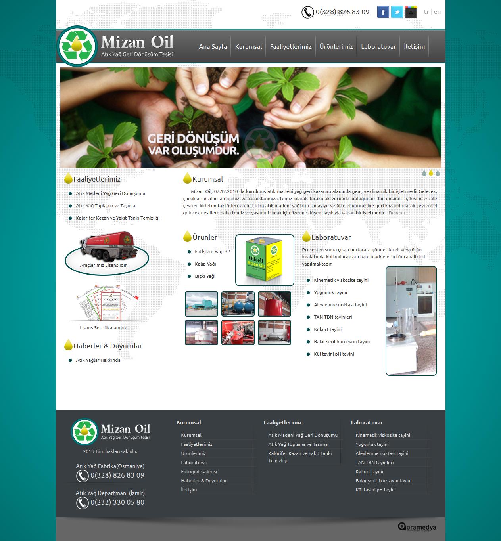 Mizan Oil Osmaniye Web Tasarım