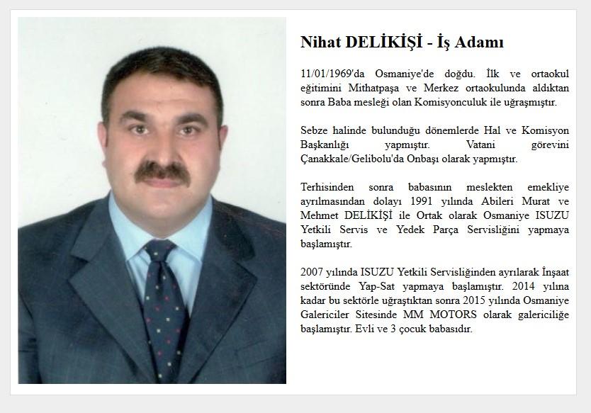 Nihat Delikişi Osmaniye İş Adamı Web Sitesi Tasarımı