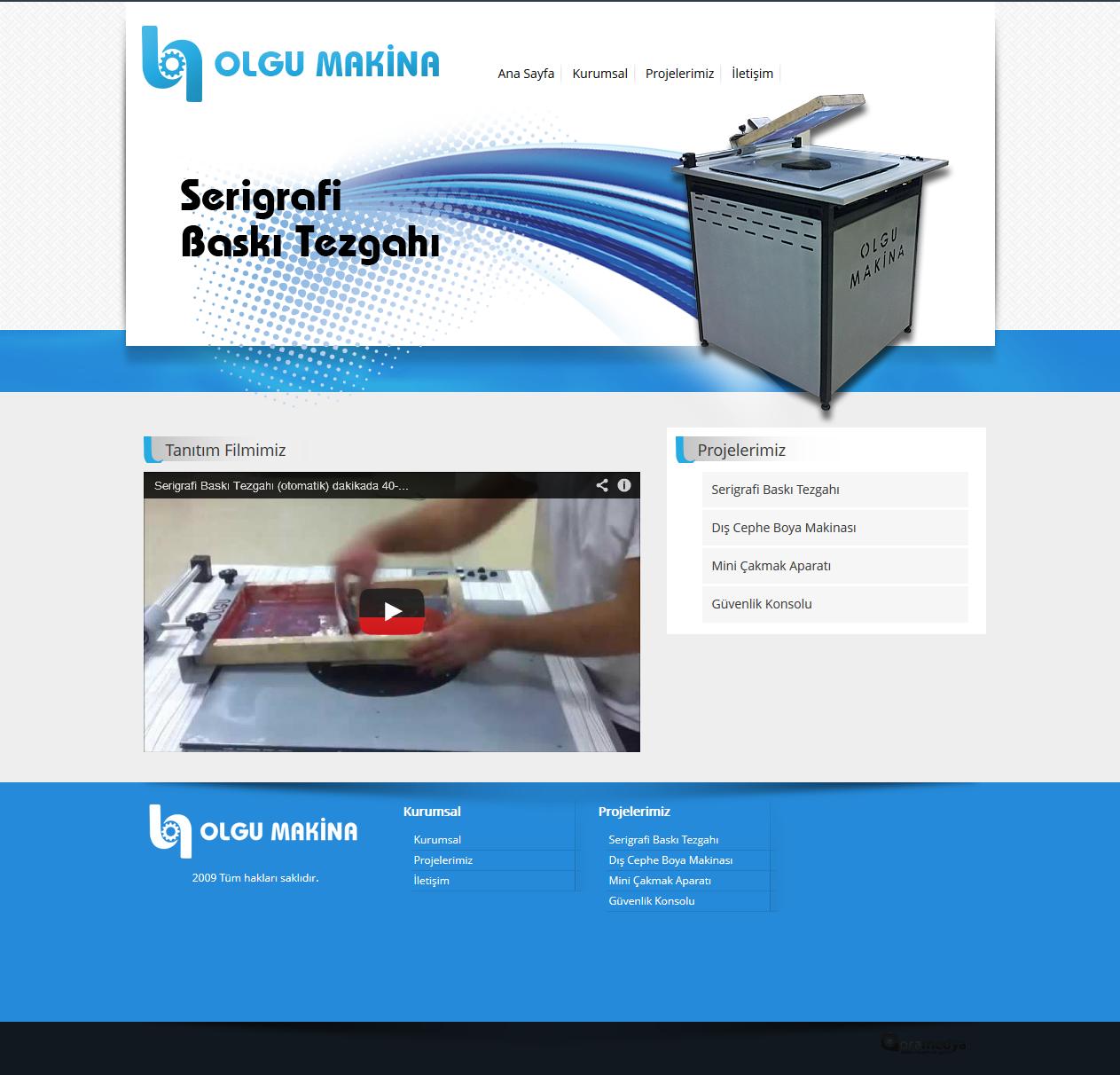 Olgu Makina Kayseri Web Tasarım