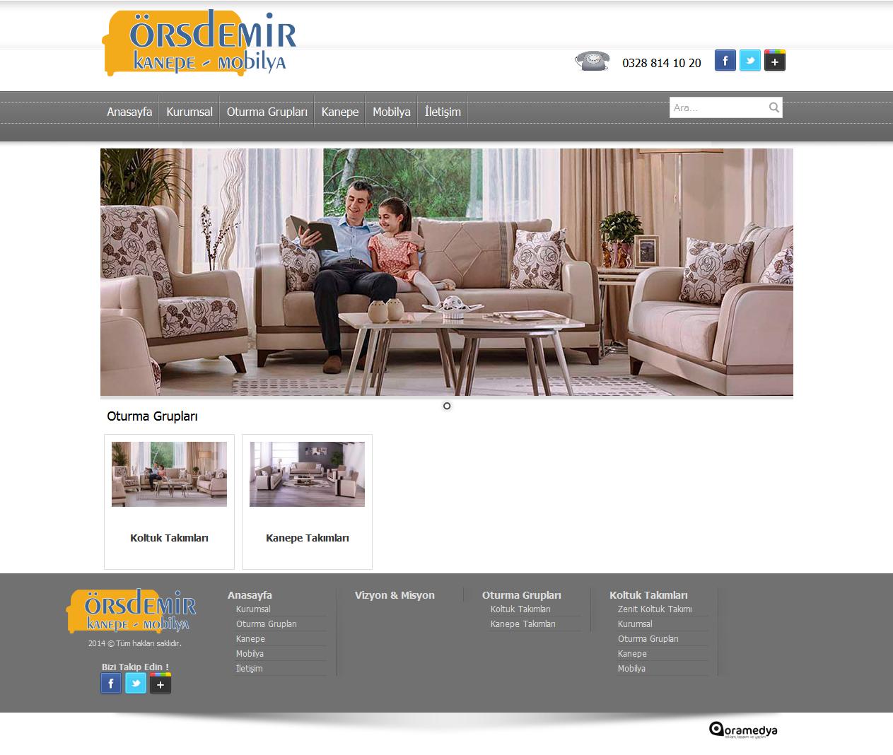 Örsdemir Kanepe Mobilya Osmaniye Web tasarım