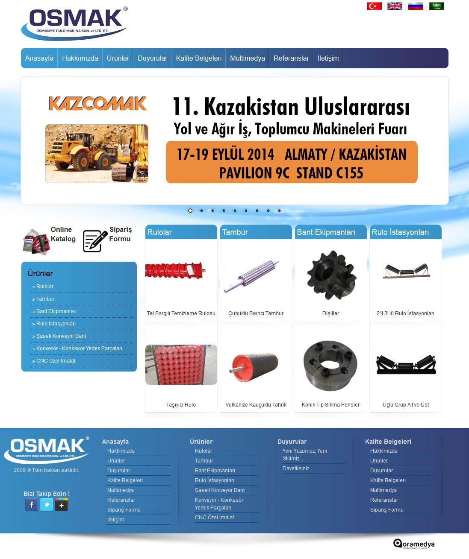 Osmak Rulo Makina Web Tasarım Güncelleme