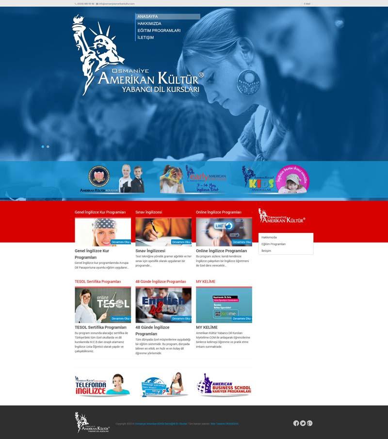 Osmaniye Amerikan Kültür Dil Okulları Web Tasarımı
