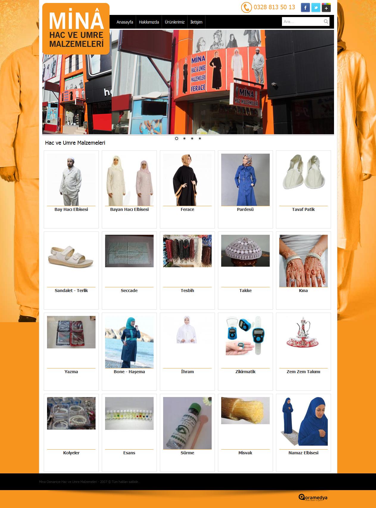 Mina Hac ve Umre Malzemeleri Osmaniye Web Tasarım