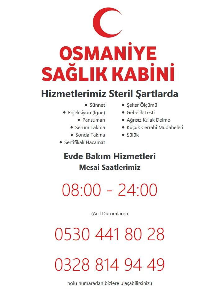 Osmaniye Sağlık Kabini Web Tasarımı