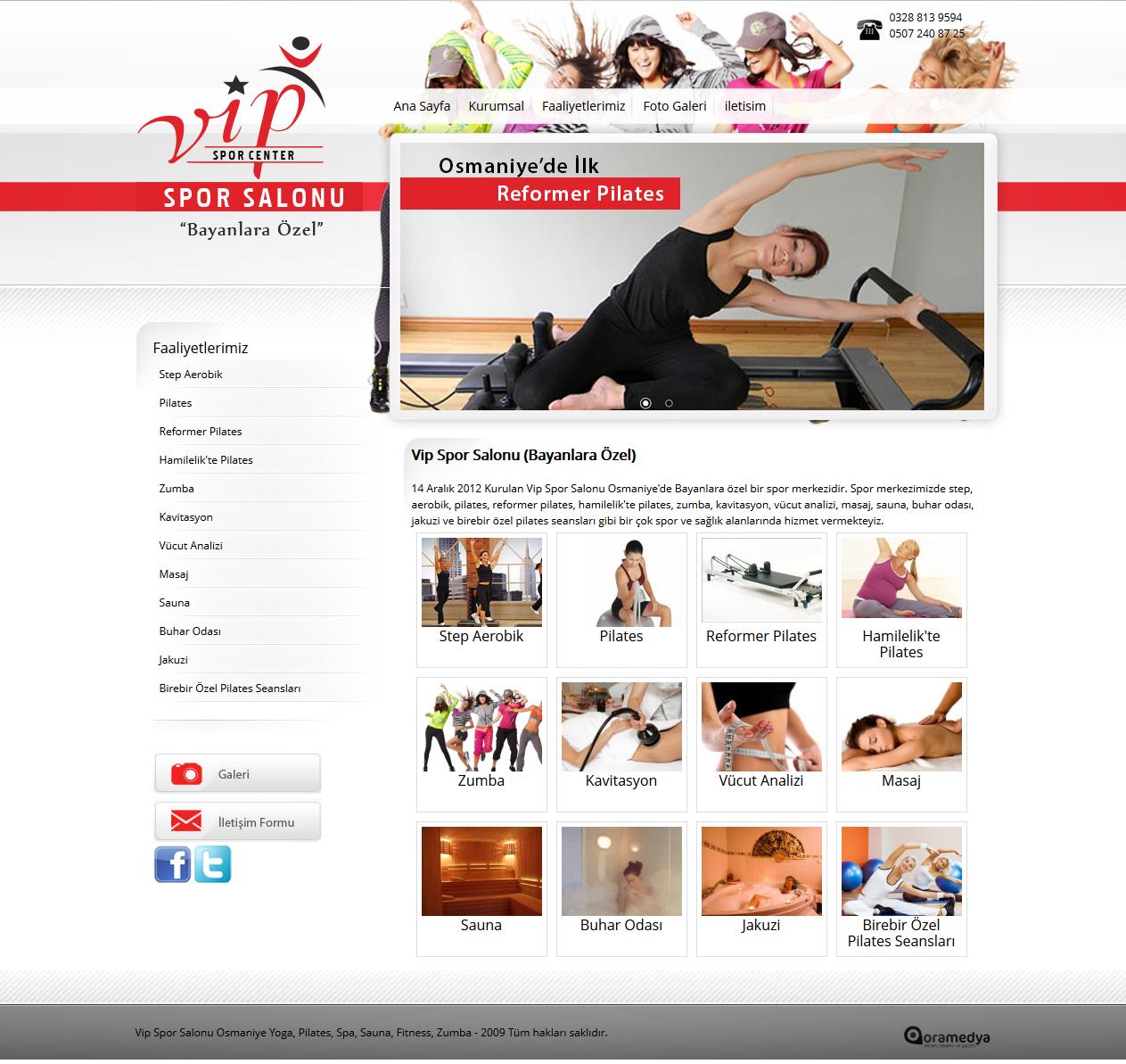 Spor Salonu Web Tasarım Osmaniye