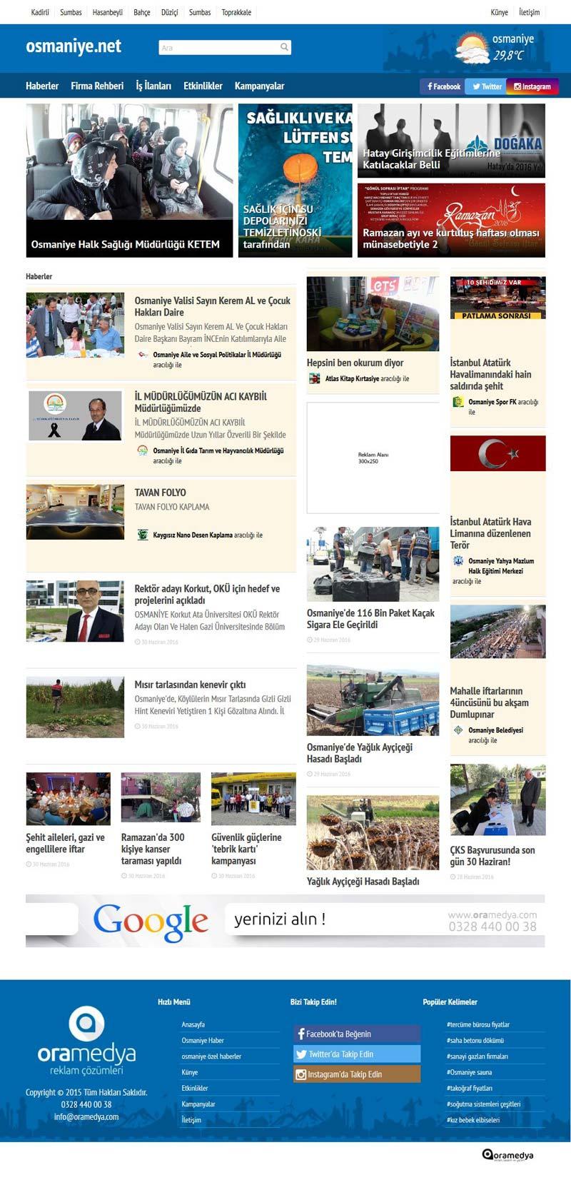 osmaniye.net haber ve şehir portalı