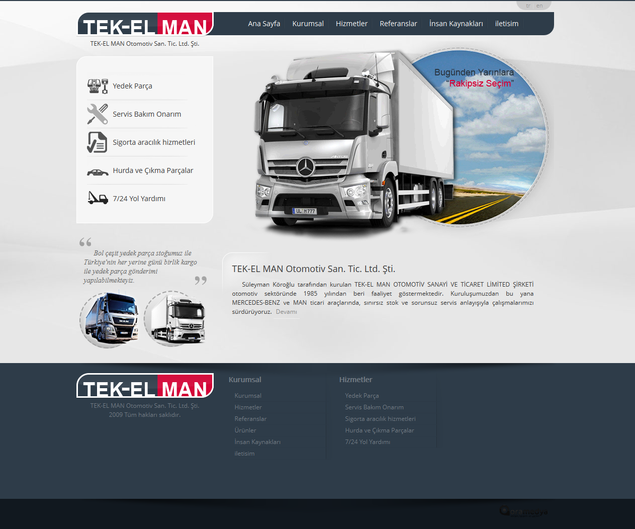 TEK-EL MAN Otomotiv Web Tasarım