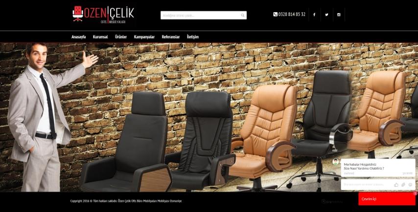 Özen Çelik Büro Ofis Mobilyaları Osmaniye Web Tasarımı