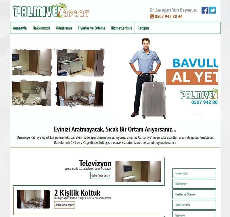 Palmiye Apart Osmaniye Web Tasarımı