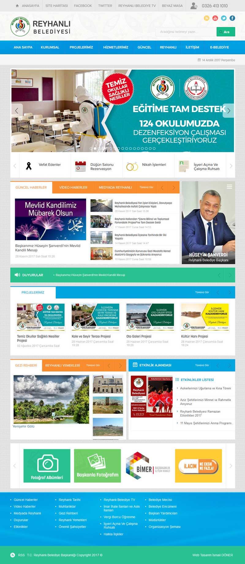 Reyhanlı Belediyesi Web Sitesi Tasarımı