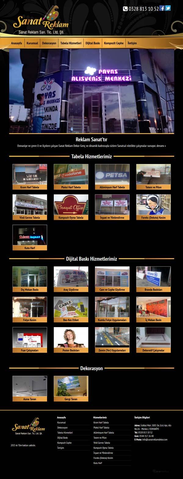 Sanat Reklam Dekor Osmaniye Web Tasarımı