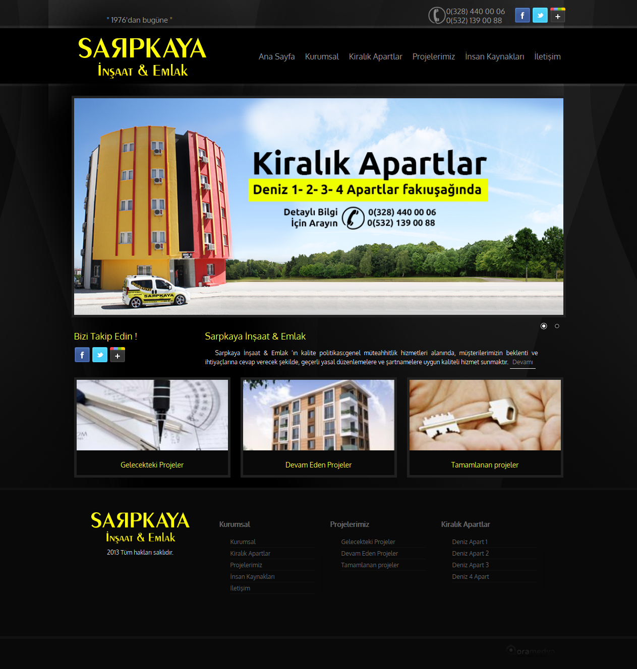 Sarpkaya İnşaat Emlak Osmaniye Web Tasarım