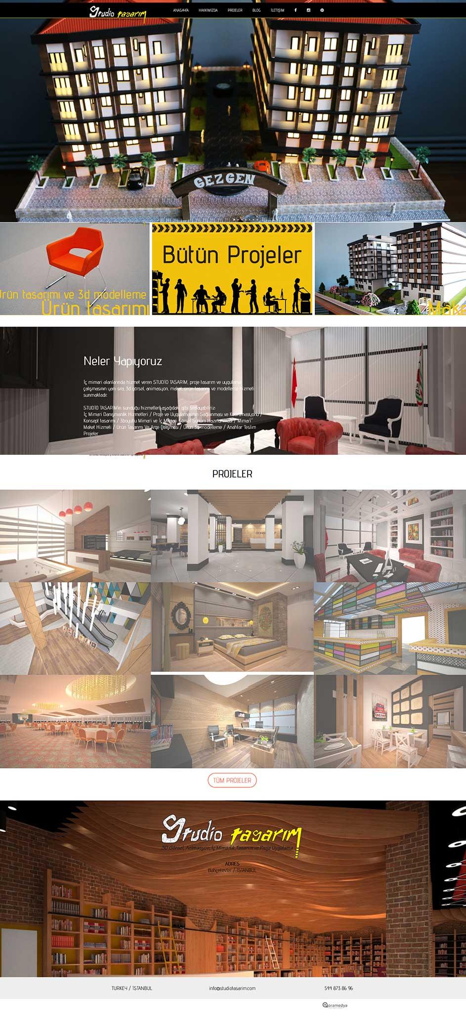 Studio Tasarım İç Mimarlık Web Sitesi Tasarımı