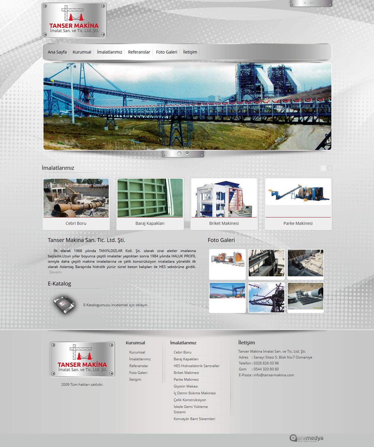 Tanser Makina Web Tasarım