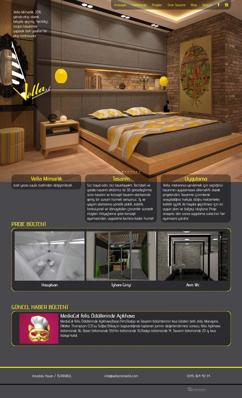 Vella Mimarlık İstanbul Web Sitesi Tasarımı